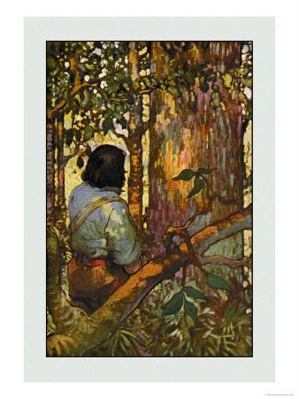Robinson Crusoe: I Jumped Up and Went Out Through My Little Grove