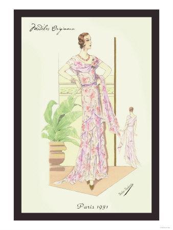 Layered Summer Dress in Flower Print