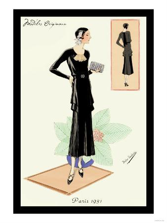Modeles Originaur: Layered Black Dress