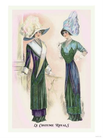 Le Costume Royals: Ladies in Blue and Green