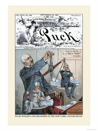 Puck Magazine: False Weights and Measures