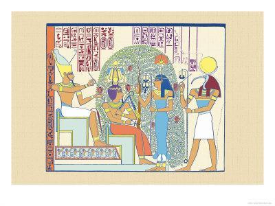 Atum, Ramses II and Sefekh