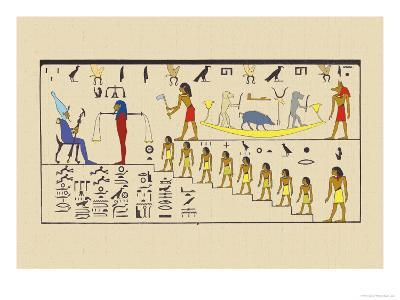 Osiris, Attended by the Guardian of the Balance