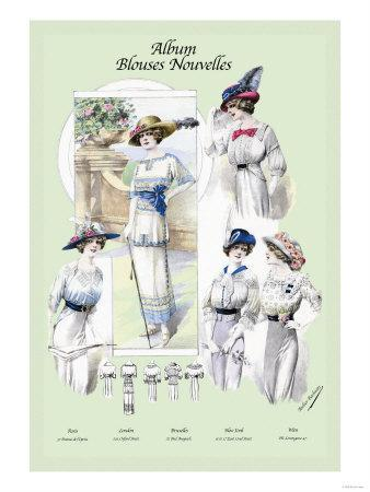 Album Blouses Nouvelles: Ladies in Flowered Hats
