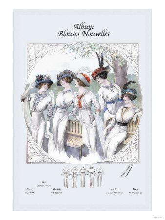 Album Blouses Nouvelles: Five Ladies in White