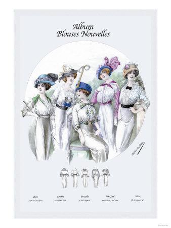 Album Blouses Nouvelles: Five Fancy Hats