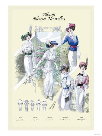 Album Blouses Nouvelles: Blouses with a Splash of Color