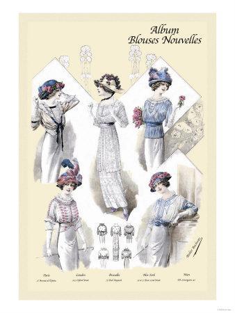 Album Blouses Nouvelles: Five Jaunty Fashions