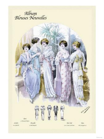 Album Blouses Nouvelles: An Evening in Bows and Ruffles