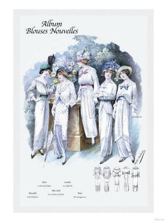 Album Blouses Nouvelles: Afternoon White