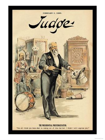 Judge Magazine: The Presidential Prestidigitateur