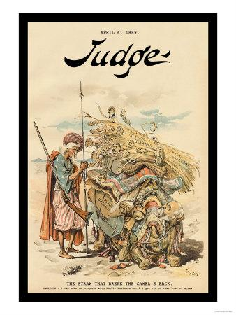 Judge Magazine: The Straw That Broke the Camel's Back