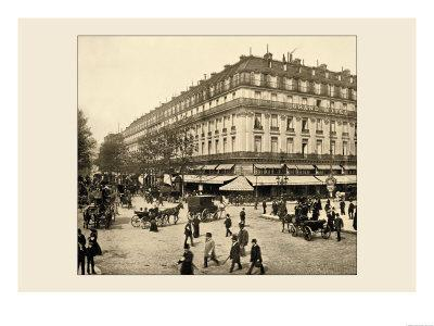 The Grand Hotel and the Cafe de la Paix