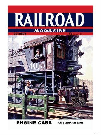 Railroad Magazine: Engine Cabs, 1943