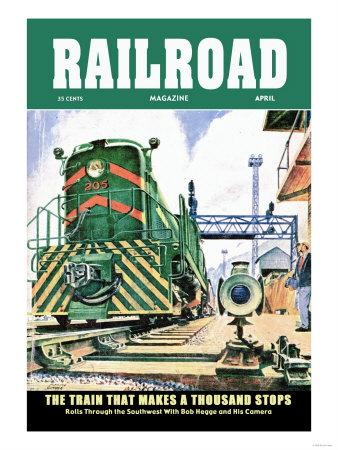 Railroad Magazine: The Train That Makes a Thousand Stops, 1954