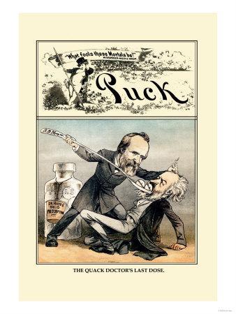 Puck Magazine: The Quack Doctor's Last Dose