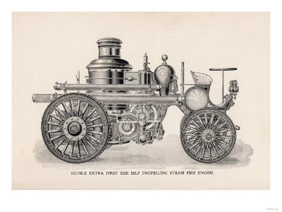 Double Extra First Size Self Propelling Steam Fire Engine