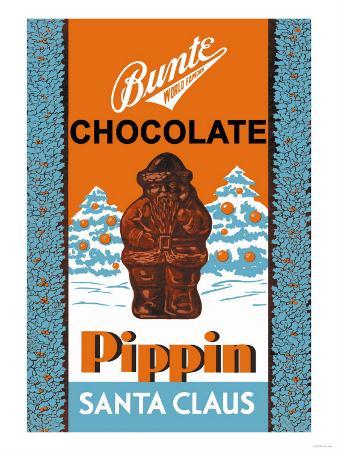 Chocolate Pippin Santa Claus