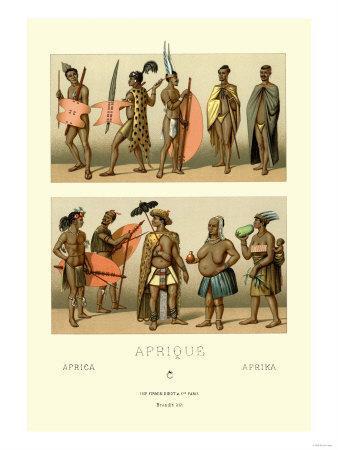 Ten African Tribe Members