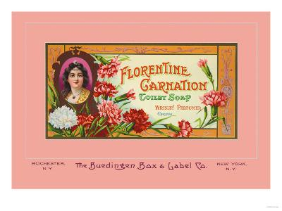 Florentine Carnation Toilet Soap