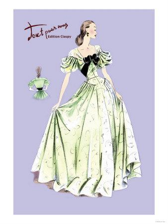 Pleated Lime Gown