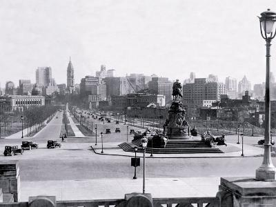 View of Philadelphia from Art Museum Steps