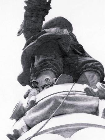 Under Statue of William Penn, Philadelphia, Pennsylvania