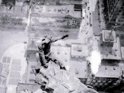 Man High above City Hall, Philadelphia, Pennsylvania