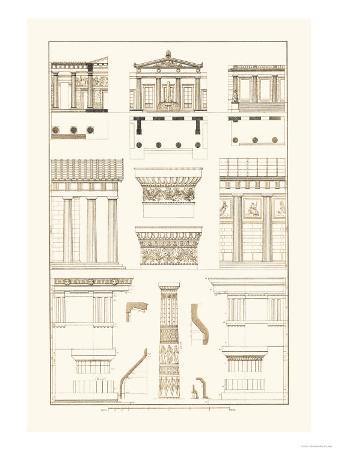Doric Order, Temple of Zeus and Cased Column