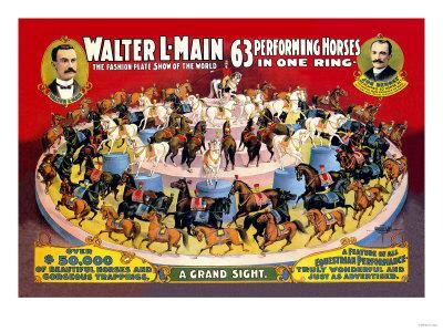 Sixty-Three Performing Horses in One Ring: Walter L. Main Shows