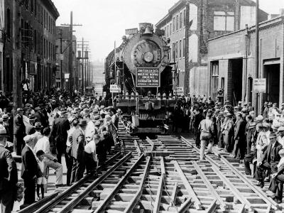 Baldwin Locomotive Down Vine Street, Philadelphia, Pennsylvania