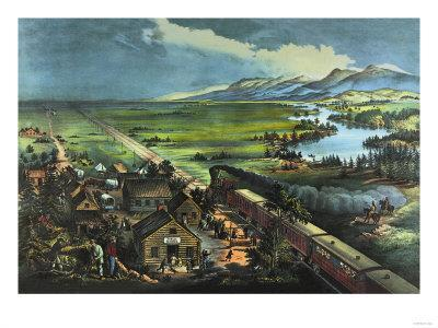 Trains Opening the Great American Plains
