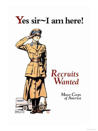Recruits Wanted: Motor Corps of America
