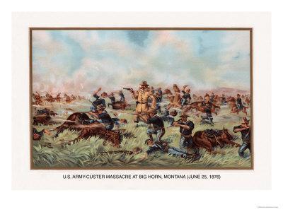 Custer Massacre at Big Horn, Montan June 25, 1876