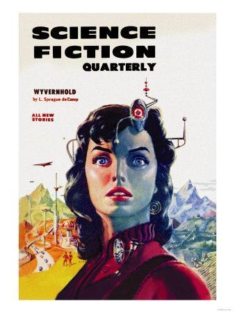 Science Fiction Quarterly: Woman with Forehead Transmitter