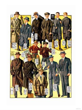 Stylish Boys and Youths with Suits and Coats