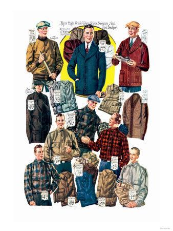 Men's Shirts, Sweaters, and Wind Breakers