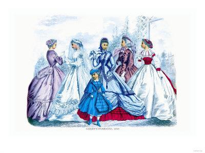 Godey's Fashions for September 1865