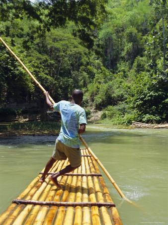 Rafting on the Martha Brae River, Jamaica, Caribbean, West Indies