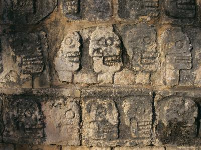 Detail, Mayan Ruins, Chichen Itza, Unesco World Heritage Site, Yucatan, Mexico, Central America