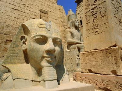 Statue of Ramses II and Obelisk, Luxor Temple, Luxor, Egypt, North Africa