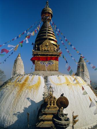 Swayambhunath Stupa (Monkey Temple), Kathmandu, Nepal, Asia
