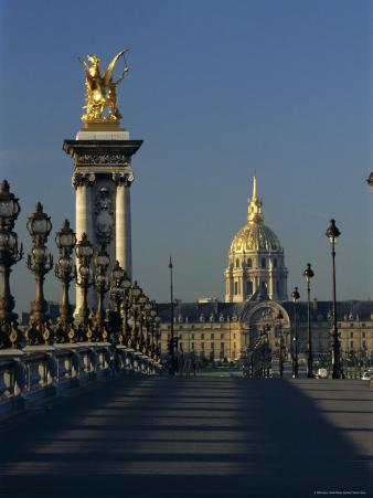 View from Alexandre III Bridge of Grand Palais and Petit Palais, Paris, France, Europe