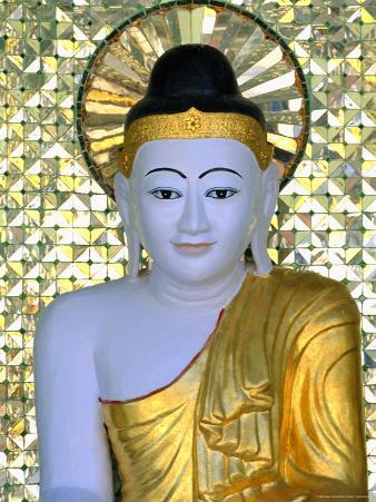 Buddha Image, Shwedagon Paya (Shwe Dagon Pagoda), Yangon (Rangoon), Myanmar (Burma)