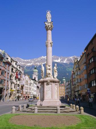 Annasaule Monument in the Centre of Innsbruck, Tirol, Austria