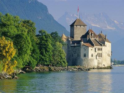 Chateau De Chillon, Montreux, Lake Geneva, Swiss Riviera, Switzerland