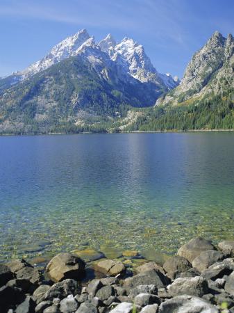 Tetons and Jenny Lake, Grand Teton National Park, Wyoming, USA