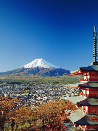 Fuji with Mt. Fuji in the Background, Japan