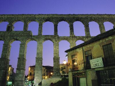 The Roman Aqueduct, Segovia, Castilla Y Leon, Spain, Europe