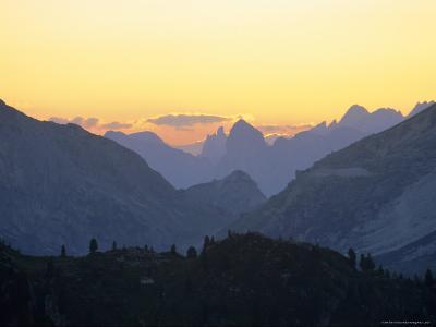 The Dolomites Near Cortina d'Ampezzo, Veneto, Italy, Europe